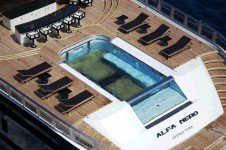 Oceanco Motor Yacht ALFA NERO - Aft Deck and pool